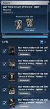Topps Star Wars Card Trader RoTJ Black & White Posters Set of 5 Digital Cards