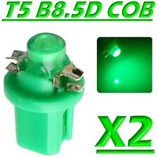 2 LED T5 B8.5D COB VERDE Lampade Lampadine Luce Per Cruscotto Quadro Strumenti