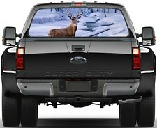 Deer Stag Winter Panorama Painting Version 3 Rear Window Graphic Decal Truck SUV
