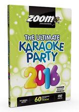 Zoom Karaoke Ultimate Karaoke Party 2016 (Region Free) DVD - 60 tracks on 2 DVDs