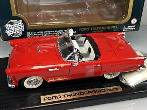 Yat Ming Road Tough 1955 Ford Thunderbird Convertible 1/18 Red Diecast Car