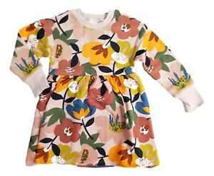 Ex N**T Baby Girls Flower Floral Jersey Dress Age 3 6 9 12 18 24 Months New