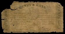 30 sous / 1/4 dollar 1837 Henry's Bank La Prairie Montreal Lower Canada