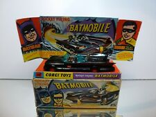 CORGI TOYS 267 BATMOBILE - BATMAN + ROBIN - BLACK  1:43 - GOOD CONDITION IN BOX