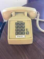 Vintage 1970's Yellow Western Electric Bell System Desktop Telephone Phone B54