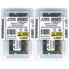 4GB KIT 2 x 2GB Toshiba Qosmio G40-P730 G40-P730T G45 G45-AV680 Ram Memory