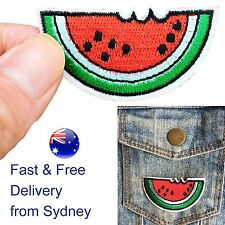 Juicy Watermelon Iron on patch - water melon fruit bite summer iron-on patches