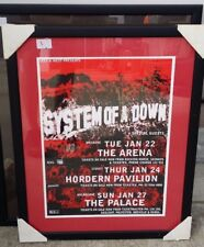 System Of a Down Signed Framed Australian Tour Poster Heavy Metal Music Band