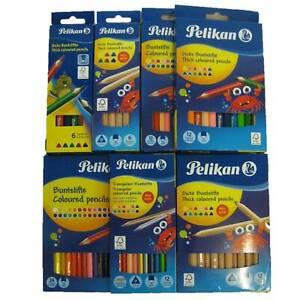 Pelikan Buntstifte Set 6 12 24 dicke jumbo normal Buntstift Dreikant sechseckig