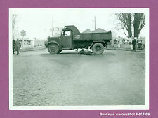 PHOTO DE POLICE CONSTAT D'ACCIDENT CRASH, MOTO CONTRE CAMION, 1955 -J68