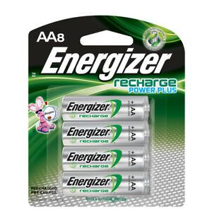 Energizer Recharge NH15BP-8 AA Batteries 8 Pack Rechargeable