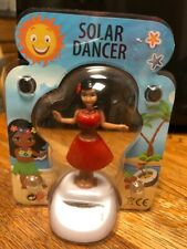 New Solar Powered Dancing Toy Bobble Head HULA GIRL - Red Dress
