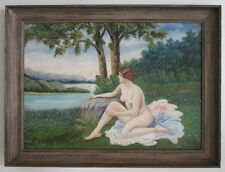 VINTAGE ART NOUVEAU Oil Painting. NUDE.