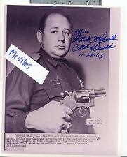 M. Nick McDonald Captor of Lee Harvey Oswald Autographed 8x10 Photo COA JFK