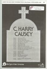 We Have Come to Worship You C Harry Causey Sheet Music 1980