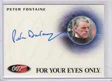 James Bond 50th Anniversary Peter Fontaine auto card