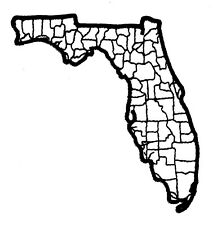 Florida State Map Patch