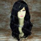 Long Black Wavy Skin Top Wonderful Heat Resistant Ladies Wig From WIWIGS UK