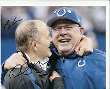 Chuck Pagano / Bruce Arians Indianapolis Colts Head Coach NFL SIGNED 8x10 PHOTO