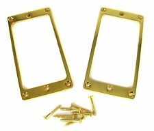 2-pack Full-Size Gold Humbucker Pickup Rings for Electric Guitar & more!