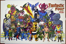 FANTASTIC FOUR w VILLAINS COLLAGE Print / Poster Marvel John Byrne art