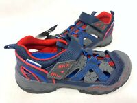 NEW! Skechers Toddler Boy's WHIPSAW WANDER TREK Sandals Navy/Red #92294N 163B z