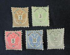 CKStamps: Austria Stamps Collection Scott#41-45 Mint H OG