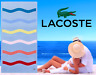 """LACOSTE BEACH TOWEL 36"""" x 72"""" BRAND NEW WITH TAGS CROC 100% AUTHENTIC"""