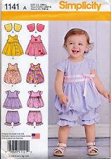 SIMPLICITY SEWING PATTERN 1141 BABY SZ XXS-L PINAFORE, DRESS, BOLERO & PANTIES