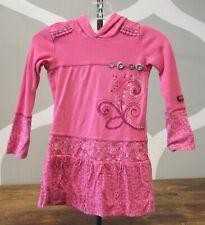 NAARTJIE Pink Embroider Cotton Hooded Embellish Dress Long Sleeve Girls 3
