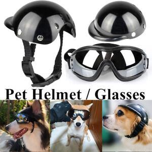 Adjustable Dog Sunglasses Goggles Pet Motorcycle Helmet UV Pet Glasses Eyewear