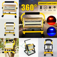 100W Portable LED Work Flood Light Cordless Camping Lamp Rechargeable