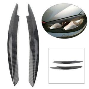 Carbon fiber pattern Headlight Cover Eyelid Eyebrow For VW Golf VI MK6 2008-2013