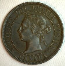 1901 Copper Canadian Large Cent Coin 1-Cent Canada XF #9