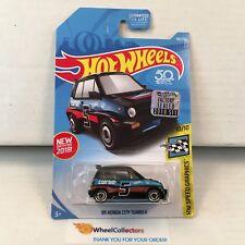 '85 Honda City Turbo #190 * Black * 2018 Hot Wheels Factory Set * E1