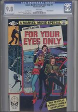 For Your Eyes Only #1  CGC 9.8 Marvel James Bond Movie 1981 Comic: