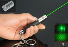 Mini 532nm 2 in 1 Dot or Star Green Laser Pointer Light AAA Battery w/ Key Chain
