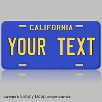 Blue California Aluminum Novelty Car License Plate Customize with Your Text