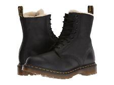 Para mujeres Zapatos Dr. Martens SERENA Imitación Piel Cuero Botas 1460 21797001 Negro