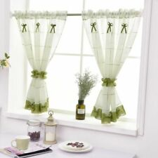 Linen Tulle Short Curtains Living Rooms Bedroom Woven Home Decoration Treatments