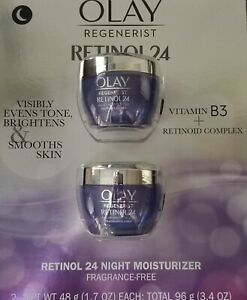 OLAY Regenerist Retinol 24 Night Facial Moisturizer, 2-pack