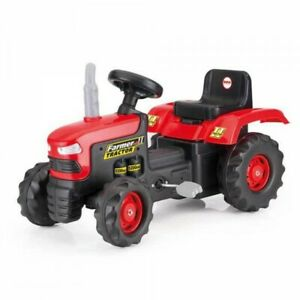 Kids Ride On Pedal Powered Red Tractor