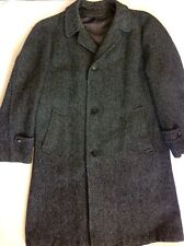 Harris Tweed Clipper Craft Clothes for Kennedy's Gray Scottish Wool Overcoat