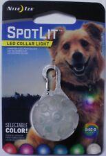 Nite Ize SpotLit Bright Long-Lasting LED Collar Disc-O Select Light PSGS-07S-R6
