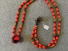 Ooak Rhythm Beads Horse Size #234 - Large Red Bell Pendant - Handmade!