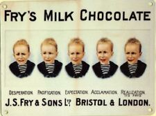 Fry's Chocolate Advertising Sign 30x40cm Frys 5 Boys Reproduction Metal Plaque