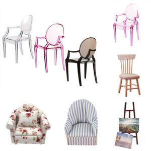 1:6 Dollhouse Miniature Armchair Chair Sofa Toy Doll House Mini Furniture Decor