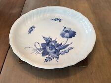 ROYAL COPENHAGEN BLUE FLOWERS Scalloped Round Cake Serving Plate 1691  11.5 Inch