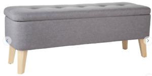 Argos Home Ashby Fabric Ottoman - Grey679/7991