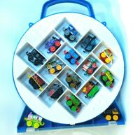 16 Piece Thomas the Train and Friends Minis  Train Lot with Carrying Case
